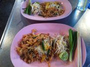 chicken pad thai in thailand