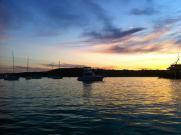 sunset boating