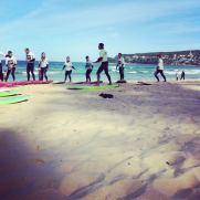 surfing bondi beach australia