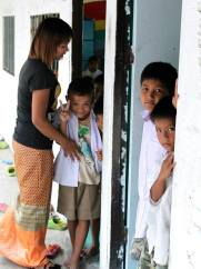 thailand kids and teacher
