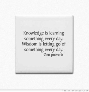 knowledge is learning something everyday wisdom