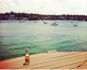 beer, dock and boats