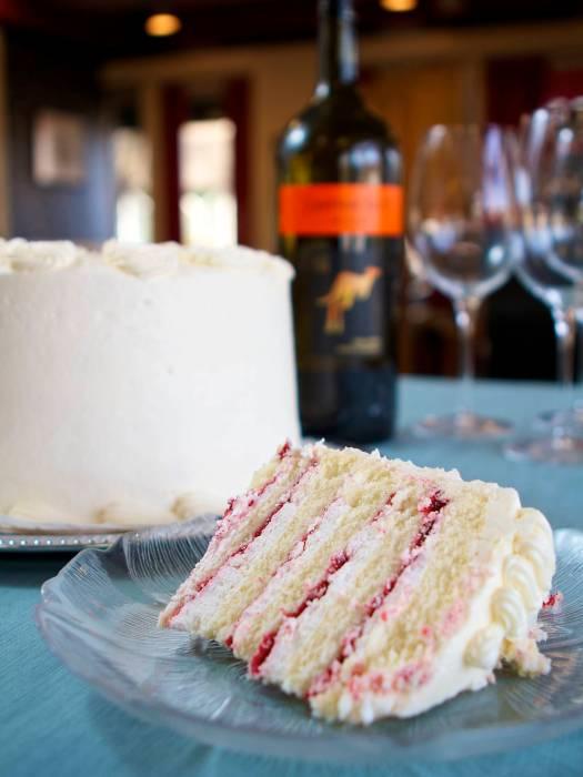 Champagne Raspberry Cake