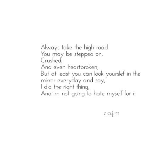 heartbroken, high road, mirror