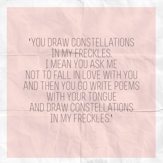 freckles, love, poem, constellations